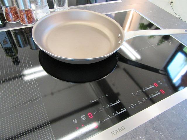 Een pan op inductie kookplaat